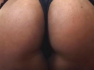 Curvy black girl sex with cum on ass