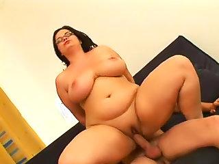 Fat bitch in glasses hardcore sex