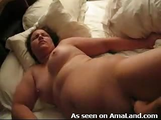 Homemade fucking of BBW girlfriend