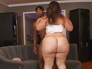 Fat girl cannot get enough BBC