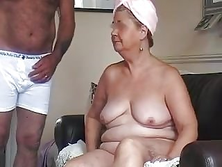 Amateur BBW Granny Drinks Cum Shot