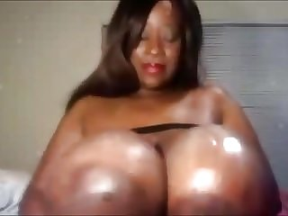 Big black mature women tittie play on cam!Pre