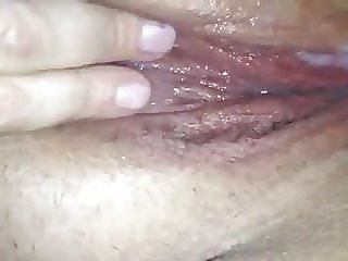 British BBW wife playing with creampie