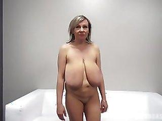 Alena (48 yo) - Big empty udders